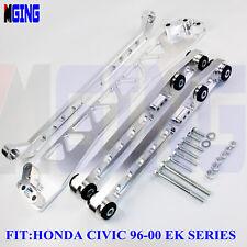 Billet Rear Subframe Brace Control Arm Tie Bar 96-00 Honda Civic EK SKNNK2 SLVER