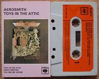 AEROSMITH - TOYS IN THE ATTIC (CBS 4080773) RARE ORIGINAL 1975 UK CASSETTE TAPE