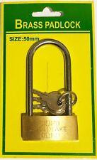 Cadenas 50 mm en Laiton 8 x 4,5 cm Anse: H 6 cm Diamètre 0,5 cm 3 clés