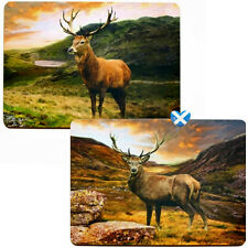 Scottish STAG Table Placemat - Set of 4 Boxed Scotland Highlands Leonardo BNIB