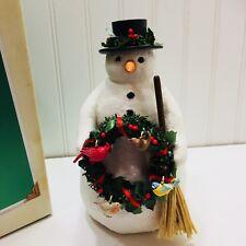 Hallmark Winter Friends Snowman Marjolein Bastin 22568 Display