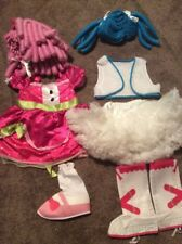 Lalaloopsy Jewel Sparkles & Muffin Costume Lot 2 Girls Size S 2-4 Dress Up