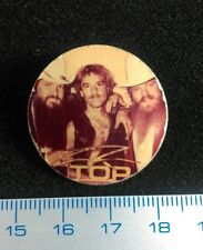 Pin Badge Photo Vintage Underground USSR RUSSIA Rock 75s ZZ TOP group. SCARCE !!