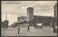 Spain. Barcelona - Universidad - Vintage Printed Postcard
