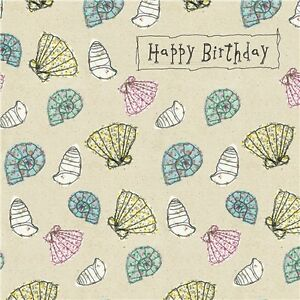 Lovely Sea Shells National Lifeboat Institution Birthday Card