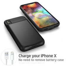 For Apple iPhone X 6000mAh Battery Charger Case Power Bank Cover External Backup