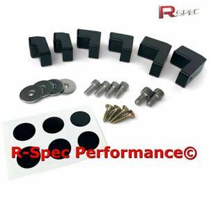 Stealth Black Spoiler Lip Wing Riser Raiser Spacer Kit Ford MK7 MK7.5 Fiesta ST
