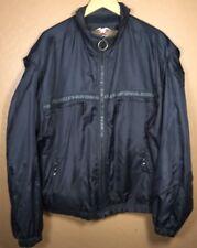 Men's Harley Davidson racing jacket Medium  Black Nylon Zip Up Jacket