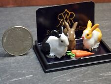 Dollhouse Miniature Animals Rabbits & Carrots Set Reutter G69 Dollys Gallery