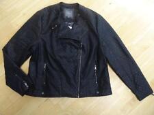 Siguiente Negro Imitación Cuero Chaqueta de abrigo señoras UK 20 plus size BNWT £ 55 Nuevo