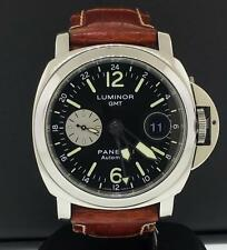 Panerai Luminor GMT PAM88 Automatic Acciao 44mm Steel Black Arabic Dial Pam00088