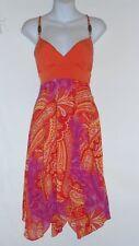 XOXO Junior Chiffon Empire Waist Asymmetrical Hemline Dress Medium (M) NWT