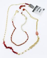 "New 58"" Necklace with Glass Beads & Semi Precious Stones by Anthropologie #ANT12"