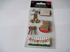 Scrapbooking Stickers Dimensional Sandylion New Home Sweet Home Mailbox Keys