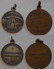 coppia medaglie anno santo 1933 comitato antiblasfemo Vaticano