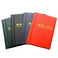 120 Monete Denaro Collezione Album Titolare Libro Portatile Centesimo Conse F8I1