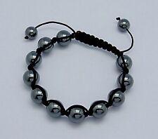 Modeschmuck-Armbänder im Shamballa-Stil mit Hämatit-Hauptstein