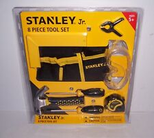 Stanley Jr. 8 Piece Real Tool Set for Kids 5+ Hammer Screwdrivers Pouch NEW!