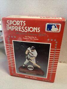 1990 Sports Impressions Baseball Will Clark Miniature Figurine Series With Box