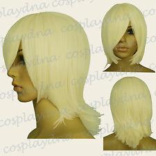 "16"" Hi_Temp Light Golden Blonde Long Layered Flip Short Cosplay DNA Wigs 63LGB"