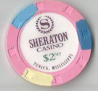 SHERATON TUNICA MS   $2.50  CASINO CHIP