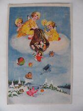 AK 1941 Weihnachten Engel Spielzeug Teddybär Puppe Pferd