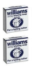 2 PACK- WILLIAMS MUG SHAVING SOAP FOR A LASTING LATHER 1.75 oz / 50g