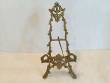 Vintage Ornate Gold Metal  Picture  Display Easel Stand