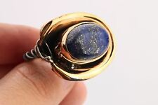 Cool Turkish Jewelry Glitter Oval Sapphire 925 Sterling Silver Ring Size 8.5