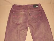 NEW Levi's Legging Stretch Jeans Juniors Girls Ladies Size 28 x 30 Burgundy Red