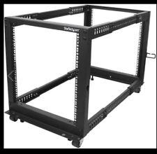 """Startech 12U Open Frame Server Rack - 4 Post Adjustable Depth (22"""" To 40"""") N"""