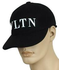 NEW VALENTINO BLACK WOOL VLTN LOGO BASEBALL HAT CAP 57/SMALL UNISEX