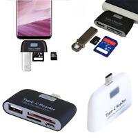 Micro USB Type C to USB 3.0 OTG HUB Adapter & SD/TF/MMC Memory Card Reader