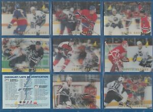 COMPLETE SET! 1996-97 McDonald's Pinnacle NHL Ice-Breakers 40 Card Set 3D Cards