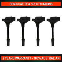 Set of 4 OEM Quality Ignition Coil for Mitsubishi Pajero iO GDI 1.8L 2.0L