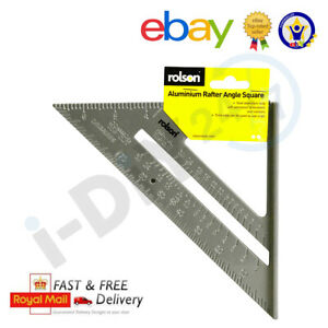"""Rolson 6"""" 150mm Set Square Aluminium Roofing Rafter Tri-square Mitre Saw Guide"""