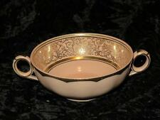 VINTAGE REPLACEMENT CHINA 2-Handled Soup Bowl W.H. Grindley INGESTRE Peach Petal