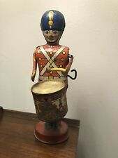Collectible Vintage Toy,J. CHEIN & Co. USA. tin wind up Soldier Drummer Boy Toy