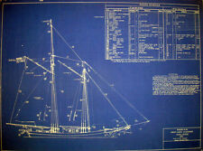 Great Lakes SCHOONER Challenge 1852 Print Blueprint Plan 18 x 23 (222)