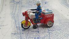 Tin Toy Police Trike Tricycle, KO/Yoshiya, Japan, 50s, Crank bump&go