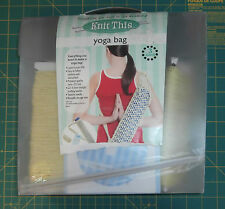 Knit This Yoga Bag Knitting Kit How to DVD Yarn Needles Teaching Opened