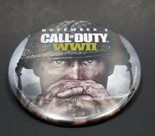 Call Of Duty WW2 WWII GameStop Promotional Pin Pinback Button