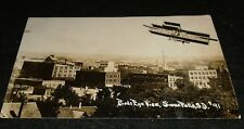 RPPC - EARLY Airplane over Sioux Falls, South Dakota Postcard