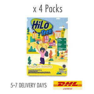 [HILO] Teen High Calcium Low Fat Halal Milk Powder Yoghurt Banana 4x250g