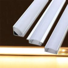 5X1.0M OR 2.0M Aluminium LED Strip Light Channel Profile, End caps, Clips