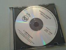 Chantay Savage I Will Survive (radio edit) Promo CD Single