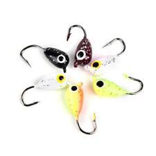 6X  Ice Winter Jigging Colors Fishing Jigs Tungsten Jig Glow Fishing Lures Bait