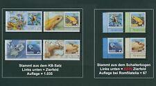 Rumänien 2017 Tiere,Oktopus,Seewespe,Schlange Mi.7308-11 ** aus KB+Bogen,RAR