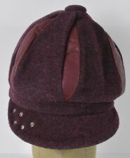 Purple Girls Dress Style Winter Warm Gatsby Baggy Funky Style Hat Cap Fitted