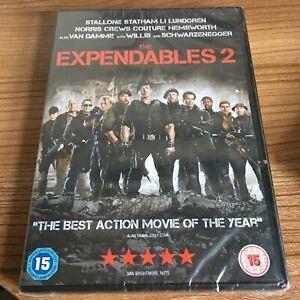 The Expendables 2 DVD (2012) NEW/SEALED Sylvester Stallone Cert 15 Region 2 UK